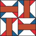 Arkansas Traveler Quilt Block Pattern