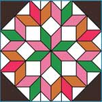 Dutch Rose Quilt Block Pattern