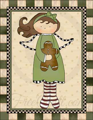 Angel with Gingerbread Man Wall Hanging Quilt Pattern