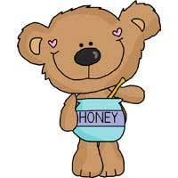 Standing Honey Bear