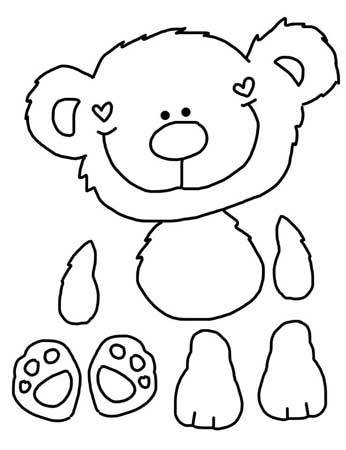 Honey Bear Line Drawing