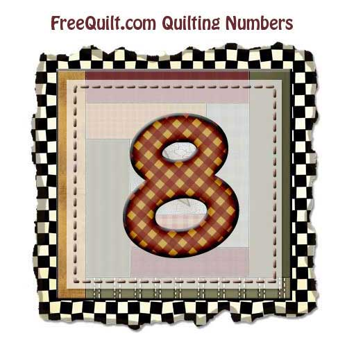 Quilting Templates for the Number 8 - Printing Pattern