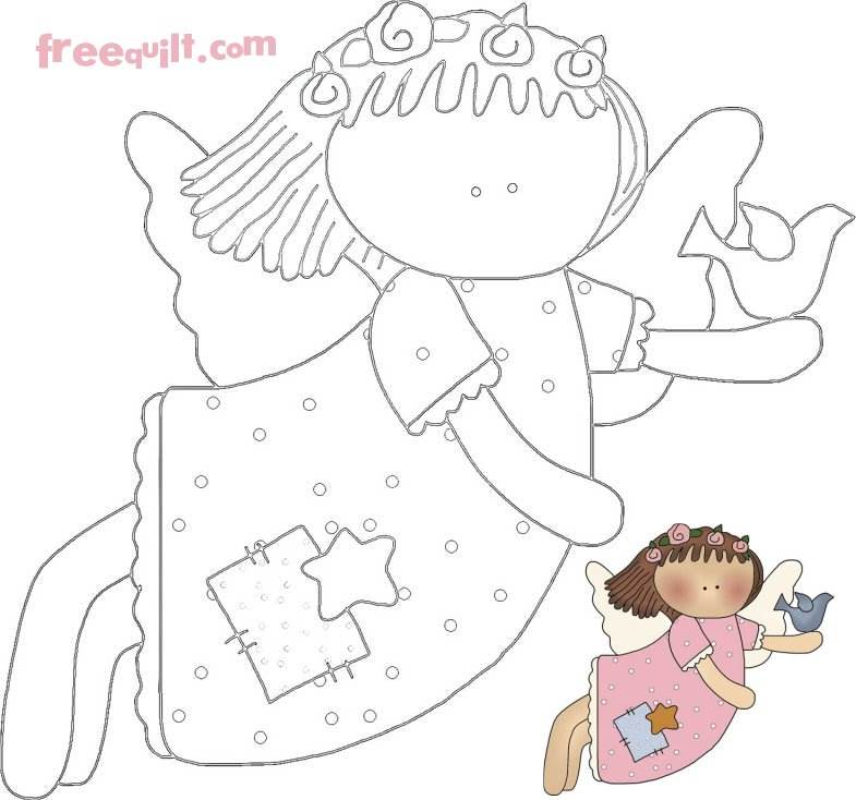 Quilted Angel Wall Hanging