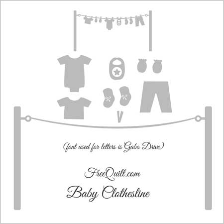 Baby Clothesline applique pattern