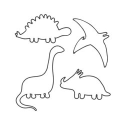 55 Dinosaur Outlines