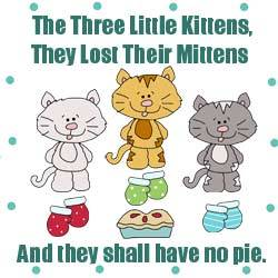 Three Little Kittens Pattern