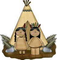 Fall - Indians with Tent Pattern