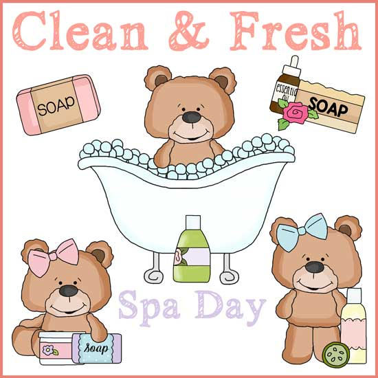 spa day clipart